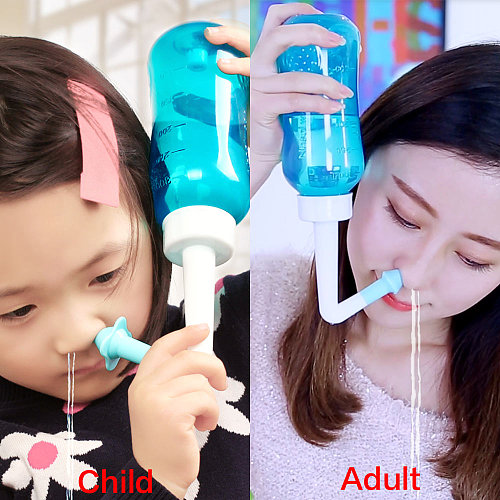 Household Adult Kids Nasal Wash Cleaner Nose Cleaning Protector Moistens Avoid Allergic Yoga Detox Sinus Allergies Relief Clean