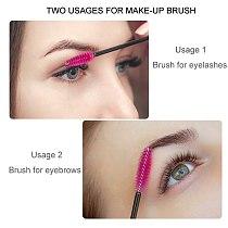 SHIDISHANGPIN eyelash brush makeup brushes 50pcs individual disposable mascara applicator comb wand lashes make up brushes tools