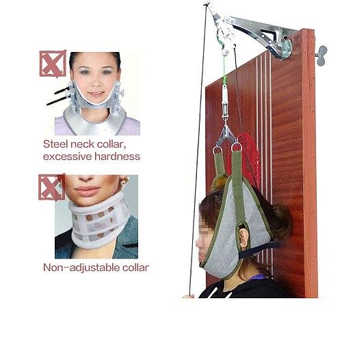 SALORIE Neck Massager Door Hanging Cervical Neck Traction Device Adjustable Head Cervical Spine Massage Relaxing Stretcher Tools