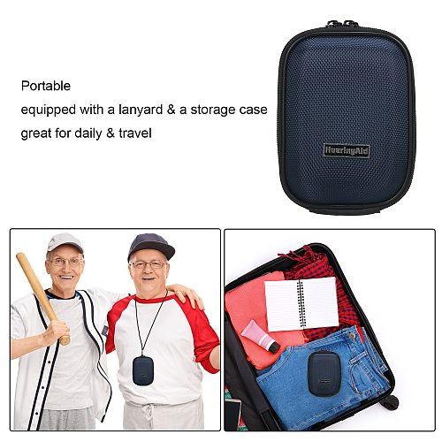 Digital Hearing Aid Sound Amplifier with Storage Case & Lanyard Sound Amplifier In Ear Hearing Enhancement Device for Adults