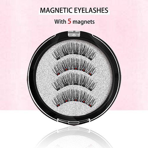 MB Magnetic Eyelashes With 5 Magnets 3D False Lashes Natural For Mink Eye lashes Extension Long Reusable faux cils magnetique