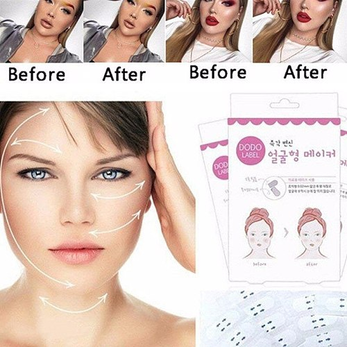 40pcs Instant Face Lift Neck Chin Lift Secret Tapes Facial Slim Anti Wrinkle Sticker V Face Shaper Artifact Invisible Sticker