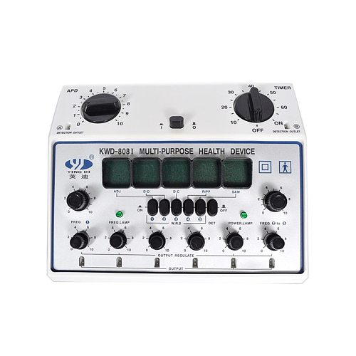 KWD-808 I pulse frequency instrument, Multi-Purpose Health Care, Acupuncture Meridian Detect Acupoints 6 Output Patch Massager