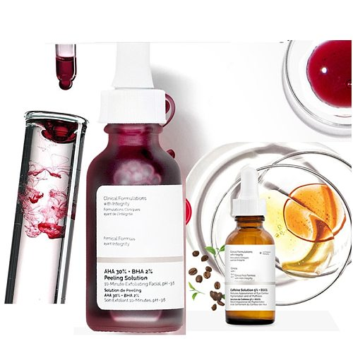 Ordinary Face Serum 10-Minute Exfoliating Face  AHA 30%+ BHA 2% Peeling Solution 30ml Blemishes Remove Acne Scars Whitening