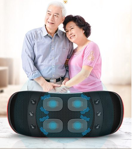 Electric Lumbar Traction Device Dual Care Waist Back Massager Heating Vibration Spine Support Waist Relieve Fatigue