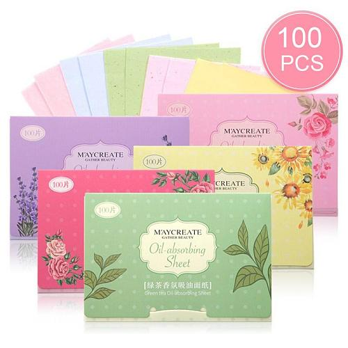 100pc/pack Oil Control Face Absorbent Paper Face Oil Control Cleaning Wipes Absorbing Sheet Oily Matting Tissue Face Care Paper