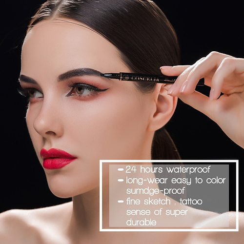 COSCELIA Double-Sided Eyebrow Pencil For Makeup Lasting Pen For Eyebrow Cosmetics Easy to Draw Tool Pencil