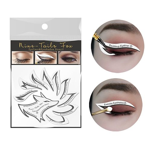 Eyeliner Eye Shadow Nine-Tailed Fox Eye Patch Eyeshadow Models Template Shaping Stencil Eyes Make up Aid Tools