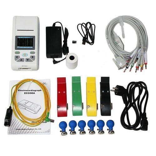 CONTEC 12-Channel ECG/EKG Machine Electrocardiograph, PC software, Touch Screen ECG90A