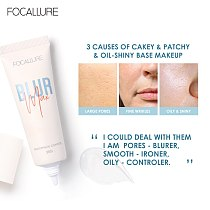 FOCALLURE  2 Pcs Makeup Set Pore-Blurring Primer and Matte Foundation Base Cosmetic Facial Lightweight Matte Finish