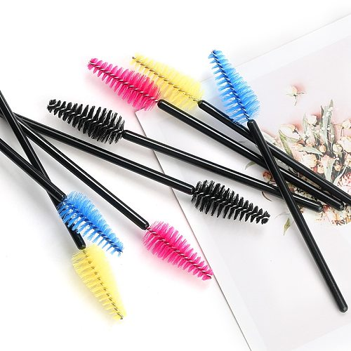 25/50pcs Eyelash Eyebrow Brush Water Drop Shape Nylon Material Lashes Makeup Brushes Eyelash Extension Beauty Tools Mascara Wand