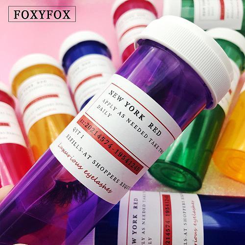 Wholesale Eyelash Package Box Pill Bottle Lash Boxes Packaging Bulk Lashes Storage Boxes Case Empty Free Custom lashes Label