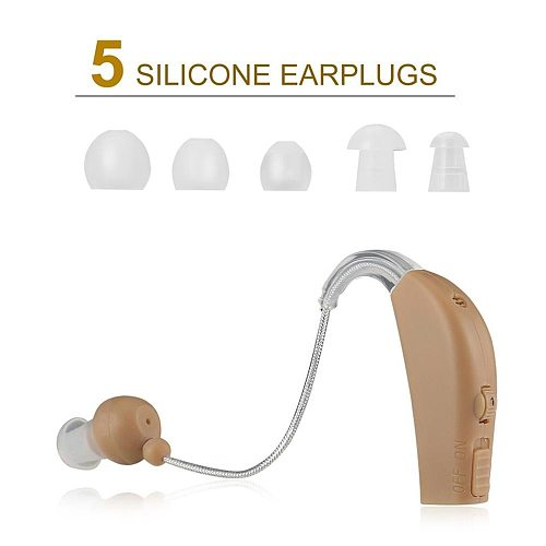 Portable Rechargeable Hearing Aids Sound Voice Amplifier Behind The Ear JZ-1088F For The Elderly Ear Care Hearing Aid EU/US Plug