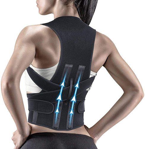 Posture Corrector Spine and Back Support Providing Pain Relief for Neck Back Shoulders Adjustable Breathable Back Brace