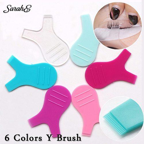 20PCS Silicone Eyelashes Lift Lifting Curler Eye Lash Extension Graft Brush Tool Y brush 6 colors