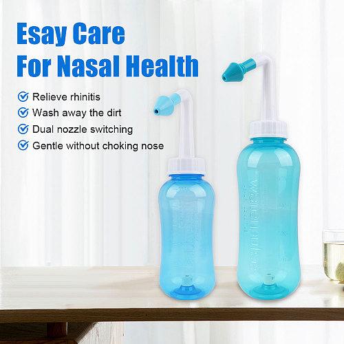 Nose Cleaner 300ml 500ml Nasal Irrigator Nasal Wash Salt Neti Pot Avoid Allergic Rhinitis Sinusitis Cure Adult Children Therapy