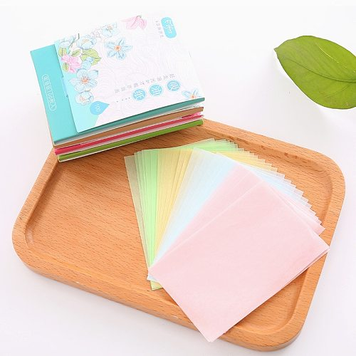100sheets/pack Absorbent Paper Oil Control Wipes Makeup Cleansing Summer Blotting Facial Oil Shrink Pore Face Cleaning Tool