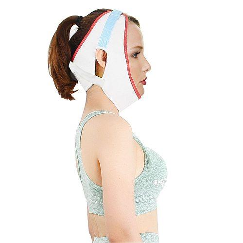 Adjustable Sling Cervical Traction Belt White Breathable Canvas Tractor Stretch Hood Neck Care Correction House Medical Equipmen