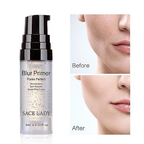 Facial Base Primer Makeup Oil Control Matte Make Up Face Base Cream 24K Gold Professional Pores Foundation Primer Cosmetic TSLM1