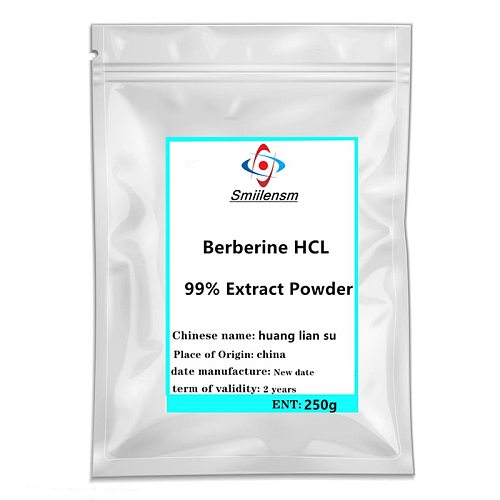 100-1000g High quality Pure Berberine Powder 1pc Coptis Chinensis Berberine Extract HCL 99% Controls Blood Sugar free shipping.