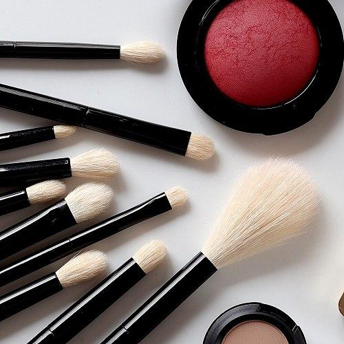 OVW DLH Makeup Brush Set Goat Hair Makeup Brushes for Eyeshadow Powder Foundation Cosmetic Tools Eyeliner Browbrush