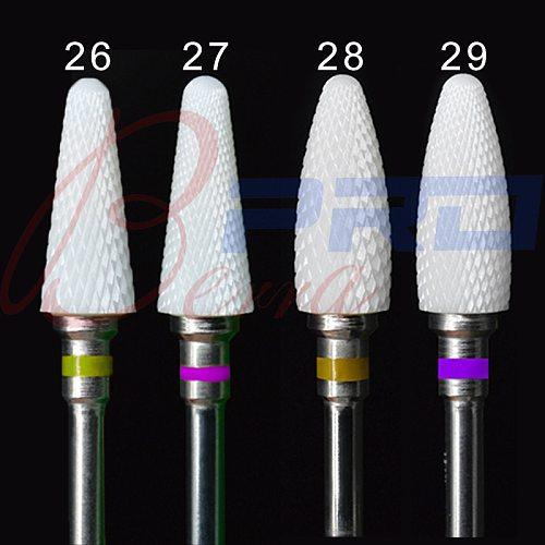 Proberra Ceramic Rotary Cuticle Burr Milling Cutter Manicure Dead Skin Removal Drill Accessory Tools 5.0 Ceramic Nail Drill Bit