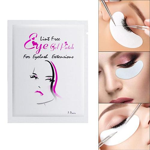 20/80 Pairs under Gel Pad Patch Lint Free Extension Tape Eyelashes Grafting Eyelash Mask Eye Makeup Paste
