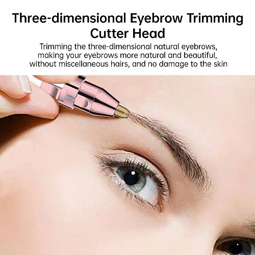 2 in 1 Electric Eyebrow Trimmer Painless Eye Brow Epilator For Women Makeup Mini Razors Portable Facial Hair Removal Shaver