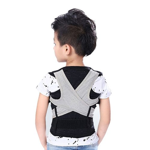 reathable children's kyphosis correction belt student back orthosis brace  spine posture correction
