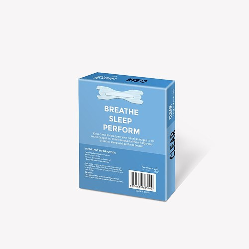 1800pcs=60boxes (66x19mm) Anti Snore Nasal Strip Better Breath Transparent Nasal Strips for Stop Snoring Aid