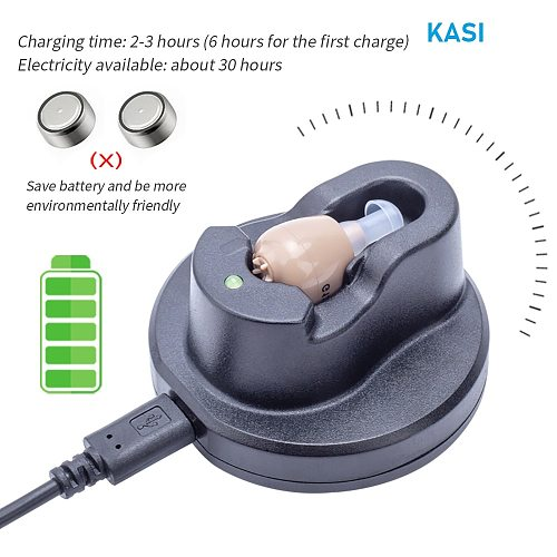 2021 best ITC Hearing Aid  Rechargeable Hearing Amplifier Ear Hearing Aid for The Elderly Sound Amplifier for Hearing Loss Aids