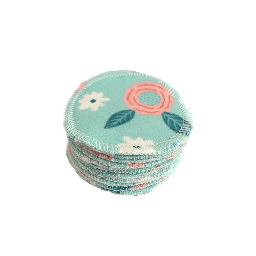 Reusable Makeup Remover Pads Zero Waste 12 Pack Bamboo Cotton Rounds Cloth Washable Cleansing Wipes Facial Cleaning Pads
