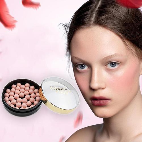 2020 Natural Face Blush Ball Waterproof Blush Highlightr Long Lasting Pigments Matte Oil-control Contouring Blush Make Up Brush