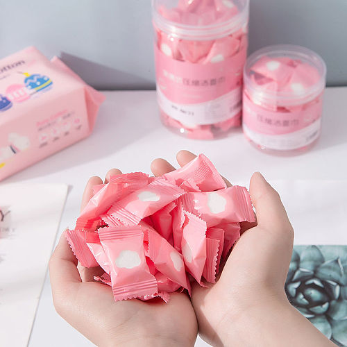 Disposable Cotton Pads Portable Travel Compressed Face Towel Wet Wipe Washcloth Napkin Outdoor Moistened Tissues Make Up Tools