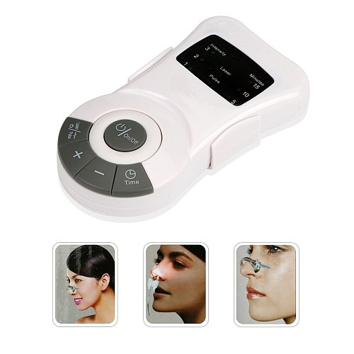 Laser Pulse Nose Rhinitis Allergy Reliever Treatment Anti-snore Apparatus Sinusitis Therapy Massage Clip Health Care Therapy