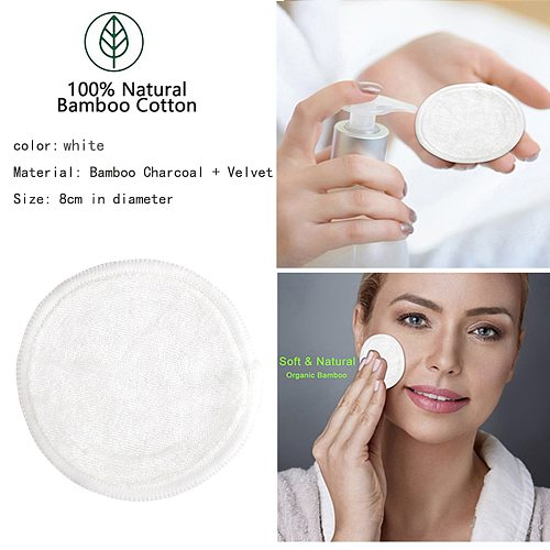 20pcs Reusable Cotton Pads Facial Cleansing Wipes Pads Make Up Remover Sets Washable Environmental Protection With Laundry Bag