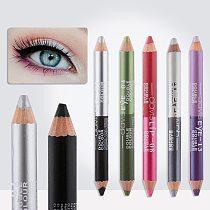 1Pc 12 Colors Highlighter Glitter Eyeshadow Eyeliner Pen Makeup Durable Waterproof Sweatproof Double-ended Eyes Pencil Makeup