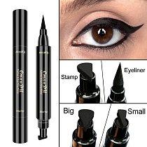 Eyeliner Double head Black Long Lasting Eye Liner Pencil Eyeliner tail seal Waterproof Smudge-Proof Cosmetic Beauty Makeup 1 pcs