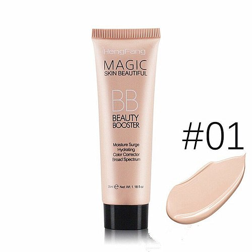 BB Cream Full Cover Face Base Liquid Foundation Makeup Waterproof Long Lasting Facial Concealer Whitening Cream Korean Make Up