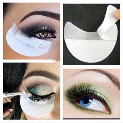 50pcs Eye Shadow Sticker Instant Eyeshadow Makeup Sheet Beginner Eye Makeup Tool Grafted Transfer Tape Eyelash Isolation Sticker