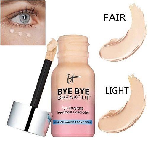 Drop ship It Cosmetics it bye bye breakout full coverage treatment concealer 10.5ml Dark Circle Skin Brighten Cream