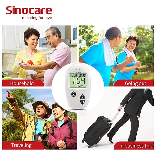 (200pcs for Safe-Accu) Sinocare Blood Glucose Separated Test Strips and Lancets for Diabetes Tester