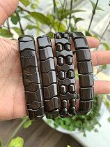 Real Black Tourmaline Beads Health Bianshi Bracelet, Natural Germanium Stone Bracelet, Negative Ion Energy Hand Chain Men Women