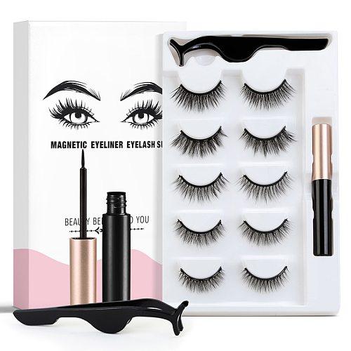 3D Magnetic Eyelashes Handmade Eyelashes Eye Makeup Extended False Eyelashe Repeated Use Magnetic Fake Magnetic Eyelashe TSLM1