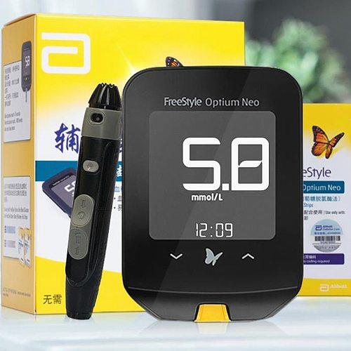 Abbott Freestyle Ketone Glucose Machine Meter Diabetic Blood Sugar Diabetes Glucometer Test Strips 100 Lancets insulin Needle