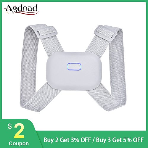 AGDOAD Smart Back Posture Corrector Flexible Adjustable Kids Adults Posture Correction Belt Straps Brace Vibration Reminder