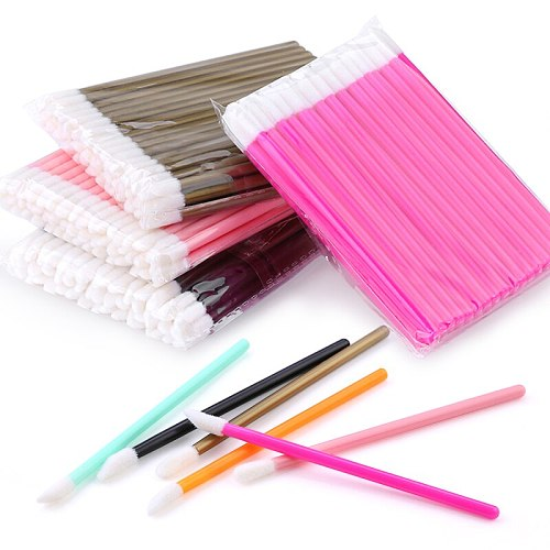 50Pcs Disposable Eyelash Brush Lashes Lipstick Micro Brushes Eyelash Extension Supplies  Applicator Cleaner Beauty Makeup Tools