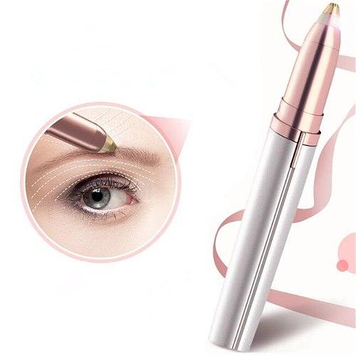 1pc Electric Eyebrow Trimmer Painless Eye Brow Epilator Mini Eye Brow Shaper Shaver Razor Portable Facial Hair Remover for Women