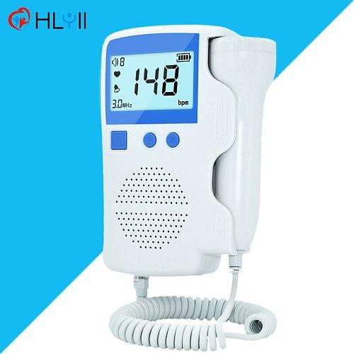 Fetal Doppler 3.0MHz Prenatal Baby Heart Rate Detector Home Pregnancy Baby Monitor Portable Fetal Sound Ultrasound Detector