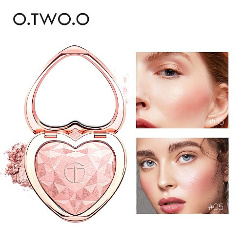 O.TWO.O Highlighters Makeup Powder Natural Shimmer Highlighter Palette High Pigments Heart Shape Glitter Illuminator Cosmetics